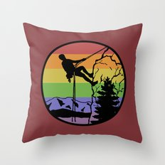 rockclimbing Throw Pillow