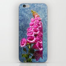 Foxglove with texture reaching for the sky. iPhone & iPod Skin