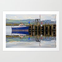Reflected Pier On Millpo… Art Print