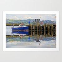 Reflected Pier On Millport Art Print