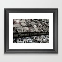Periodically Framed Art Print