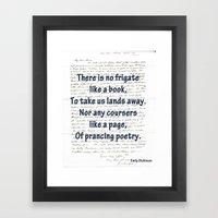 prancing poetry Framed Art Print
