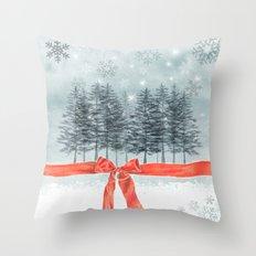 wintertrees Throw Pillow