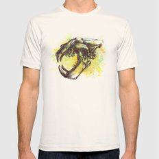 Skull 3 Mens Fitted Tee Natural SMALL