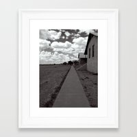 walking distance Framed Art Print