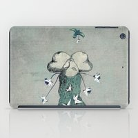 iPad Case featuring Origami's passion -  a collaboration between Christelle Guilhen and Gwenola de Muralt by gwenola de muralt