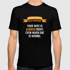 Wife is Always Right. SMALL Black Mens Fitted Tee