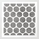 gray polka dots Art Print