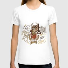 Oh my Deer (be unique and forever young like a 1960 radio) Womens Fitted Tee White SMALL