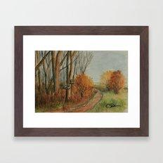 The Road Home WC150612a Framed Art Print