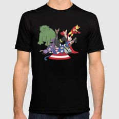 The Catvengers - Earth's Mightiest Kitties Mens Fitted Tee Black SMALL