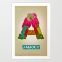 + Amour Art Print