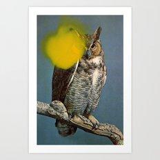 Untitled (Owl) Art Print