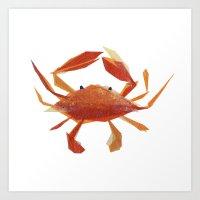 Clementine Crab Art Print