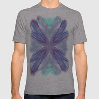 Watercolor Abstract Mens Fitted Tee Athletic Grey SMALL