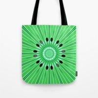 Digital art kiwi Tote Bag