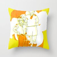 Cowboy  Geek Throw Pillow