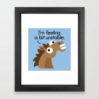 Trigger Warning Framed Art Print