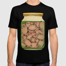 Pickled Pig Revisited SMALL Mens Fitted Tee Black