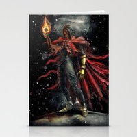 Epic Vincent Valentine Final Fantasy Painting Portrait Stationery Cards