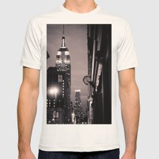 What time is it? Mens Fitted Tee Natural SMALL