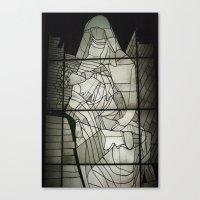 Grey Nun & Soldier Canvas Print