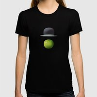 Apple 14 Womens Fitted Tee Black SMALL