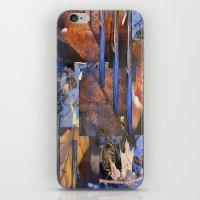 Blue Water &  Golden Lea… iPhone & iPod Skin