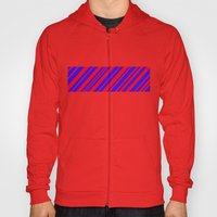 Lines 323 - Blue and Red Diagonals Hoody