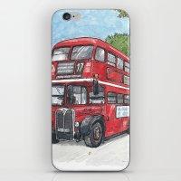 red bus in davis iPhone & iPod Skin
