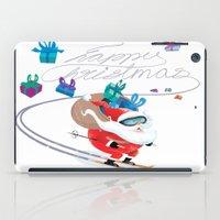 Santa Skiing 1 iPad Case