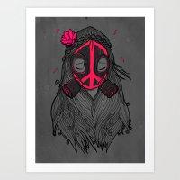 War And Peace (GREY) Art Print