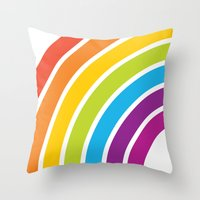 A Rainbow World Throw Pillow