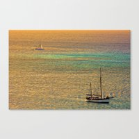 Sailing From The Sunset Canvas Print