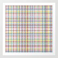 Rainbow Weave Art Print
