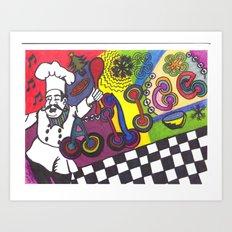 ALice's SINging CHef Art Print