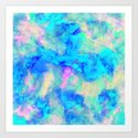 Electrify Ice Blue Art Print