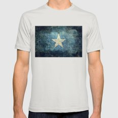 Flag of Somalia - Super Grunge version Mens Fitted Tee Silver SMALL