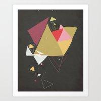 Exploding Triangles//Four Art Print
