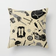 Throw Pillow featuring Artifacts: Walking Dead by Josh Ln