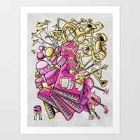 Musical Playground Art Print