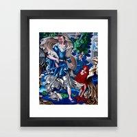 Blue Fairy Framed Art Print