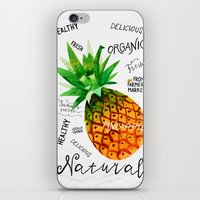 Watercolor pineapple iPhone & iPod Skin