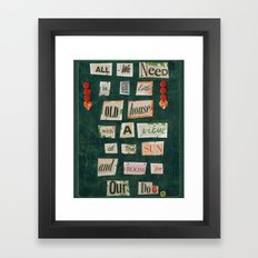 And Our Dog Framed Art Print