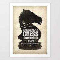 Shawshank Chess Champion… Art Print