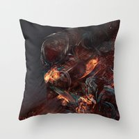 Thoughts Of A Dying Athe… Throw Pillow