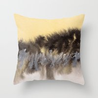 Watercolor Abstract Land… Throw Pillow
