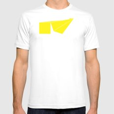 Median White Mens Fitted Tee SMALL