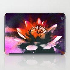 Red Water Lily iPad Case