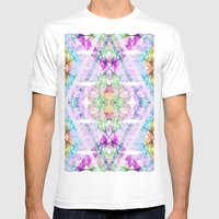 Wildflower kaleidoscope Mens Fitted Tee White SMALL